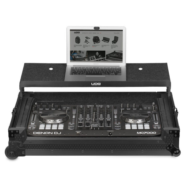 UDG Ultimate FLIGHT CASE Multi Format XXL Black Plus (Laptop Shelf, Trolley & Wheels) Fits: Pioneer DDJ-800, DDJ-1000, DDJ-SX3, XDJ-RX2