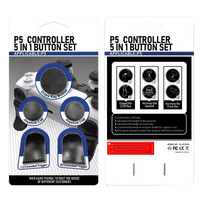 5 Piece Button Set for PS5 Controller Thumb Caps
