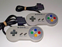 2 X Genuine Super Famicom Nintendo Controller Works Great on Aussie SNES (Preowned)