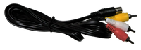 Sega Saturn AV Cables RCA  TV Replacement New Aftermarket