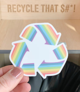 Upcycle Rainbow Sticker