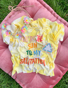 Upcycled Sun Salutation Crop Top