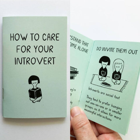 ic: How to Care for Your Introvert, a mini-zine by Janine Kwoh
