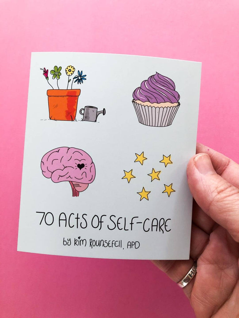70 Acts of Self Care Fold-Out Mini Zine - thankubody Zines