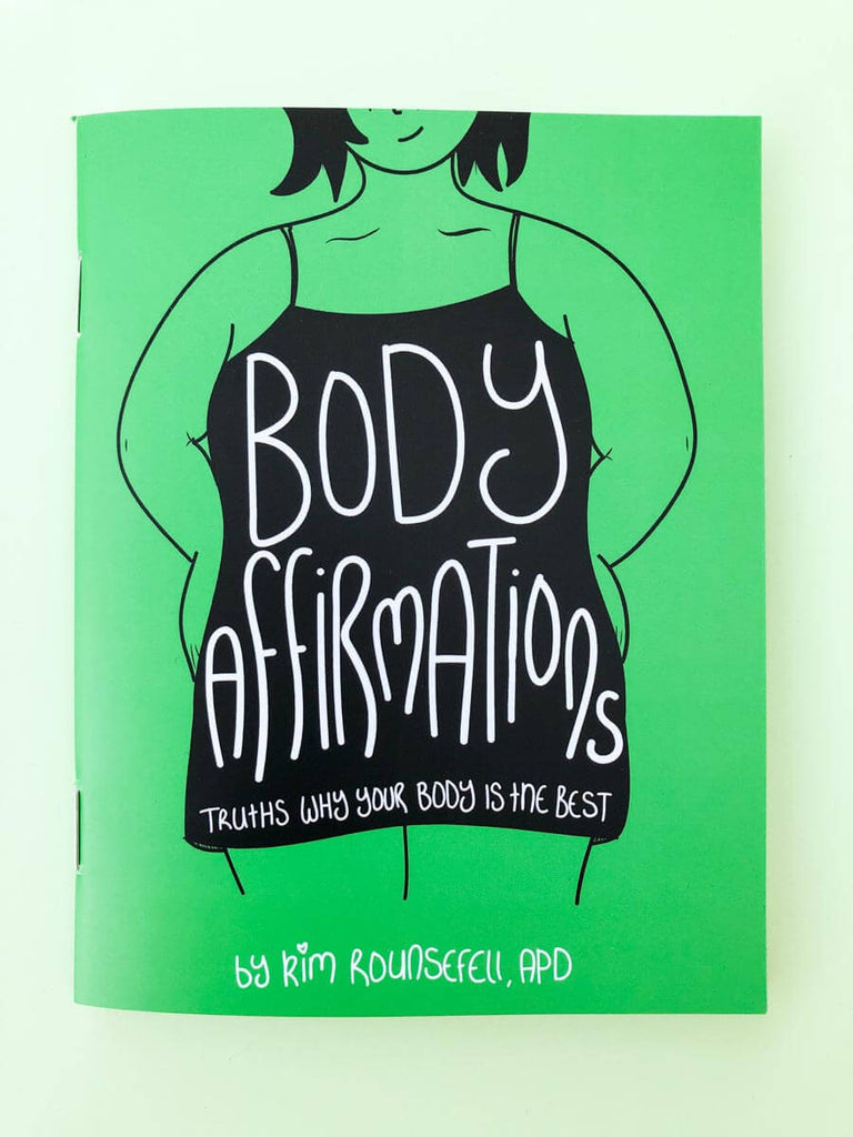 Positive Body Affirmations Zine Cover - thankubody Zines