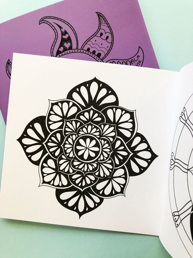 Mandala Coloring Book - Flower Mandala | thankubody Zines
