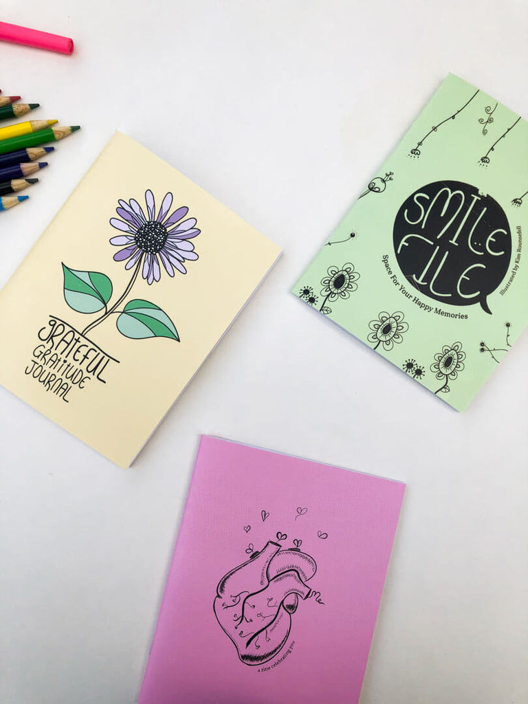 3 Journal Set, Gift Pack - thankubody Zines