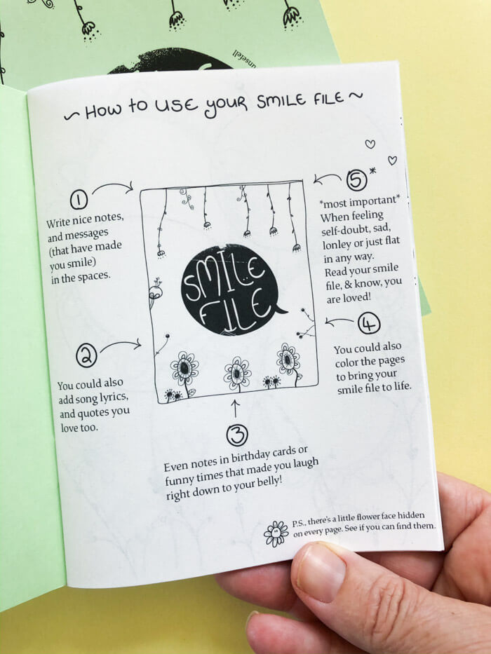 Smile File, 3 Journal Set - thankubody Zines