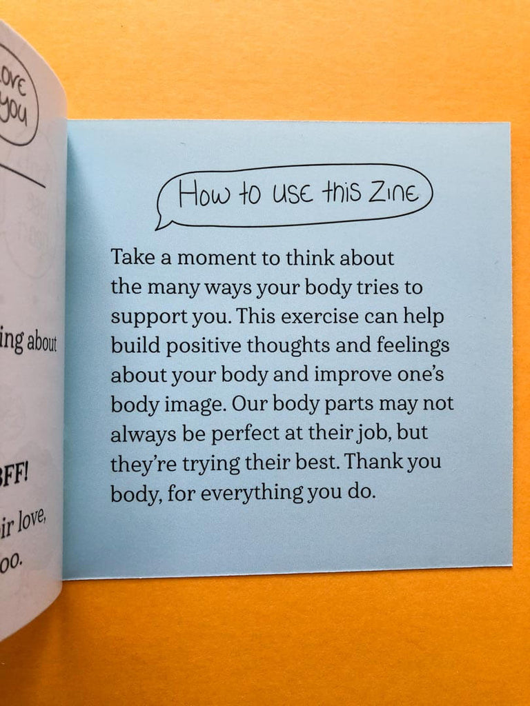 Your BFFs - Body Image Zine How to Instructions - thankubody Zines