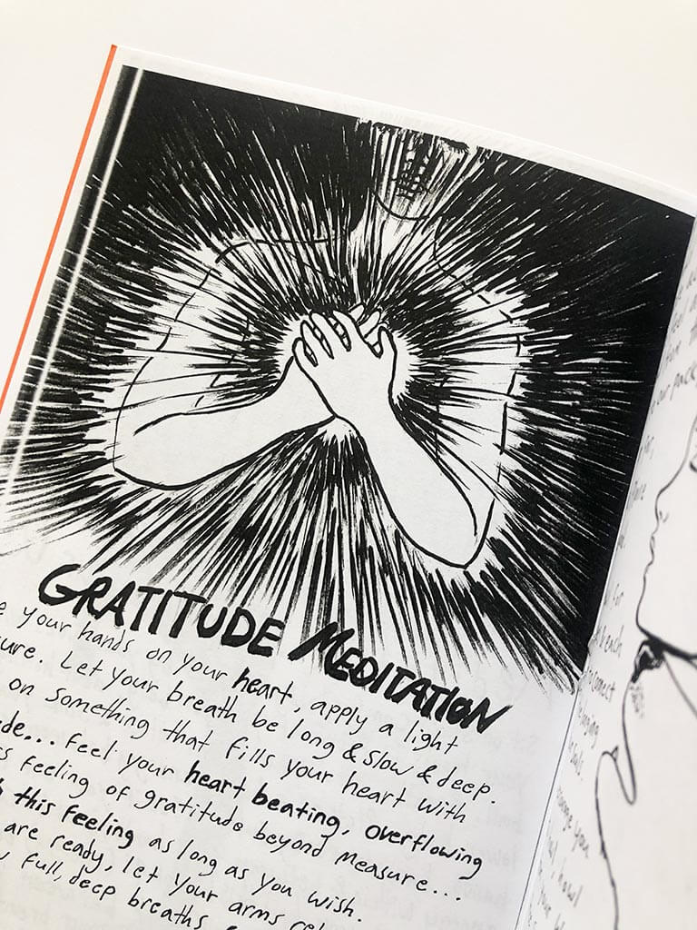 Gratitude meditation from Embodied Meditations zine by Heather Anacker