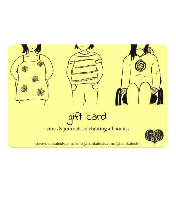 thankubody Zines Gift Card