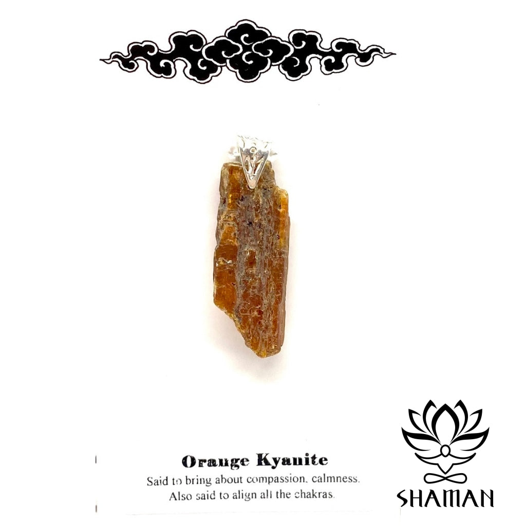 Kyanite (Cyanite) Orange Pendentif Pierre