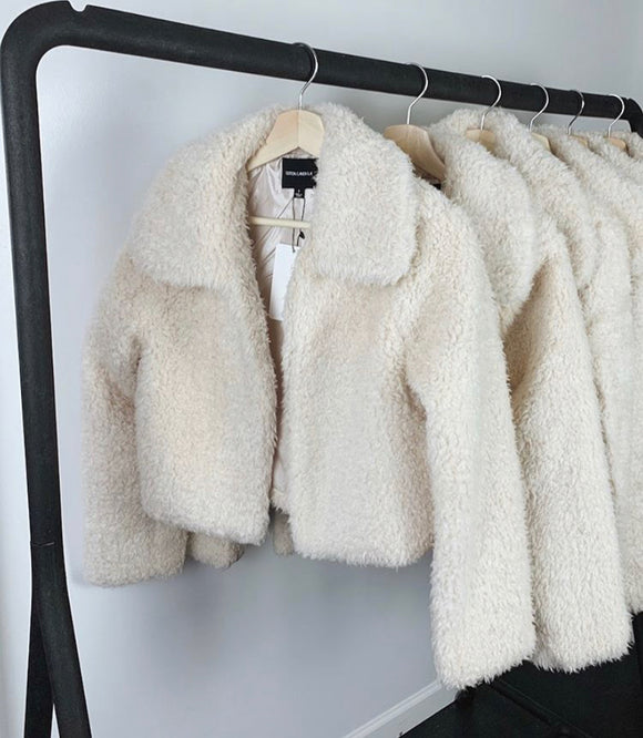 Cream Puff Mini Teddy Coat
