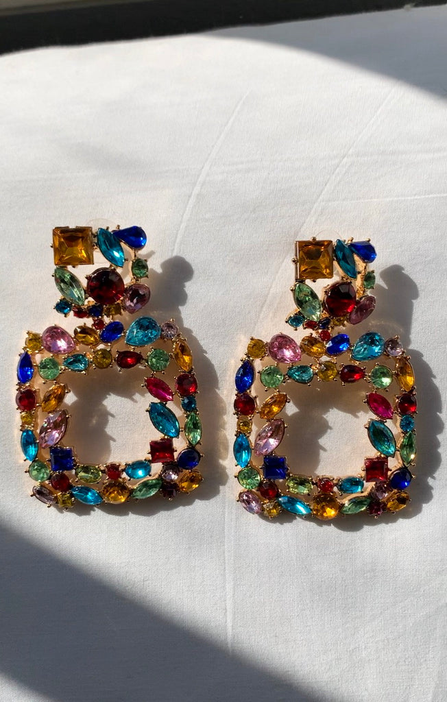 Fruity Pebble Jewel Earrings