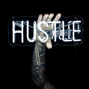 Hustle | Neon Wall Art