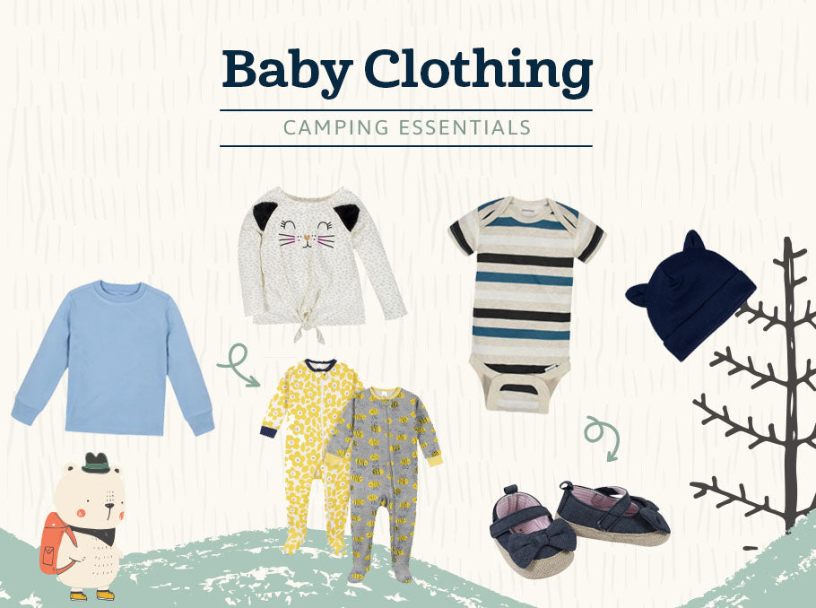 baby clothing camping essentials
