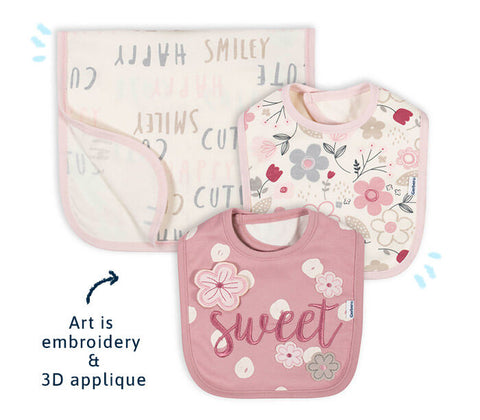 Bibs and Burp Cloths For Baby Girl