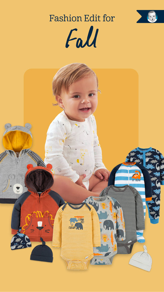 Baby Boy Fall Fashion Edit Featuring Baby Clothing such as Onesies, Outfits, Sleepwear and Accessories