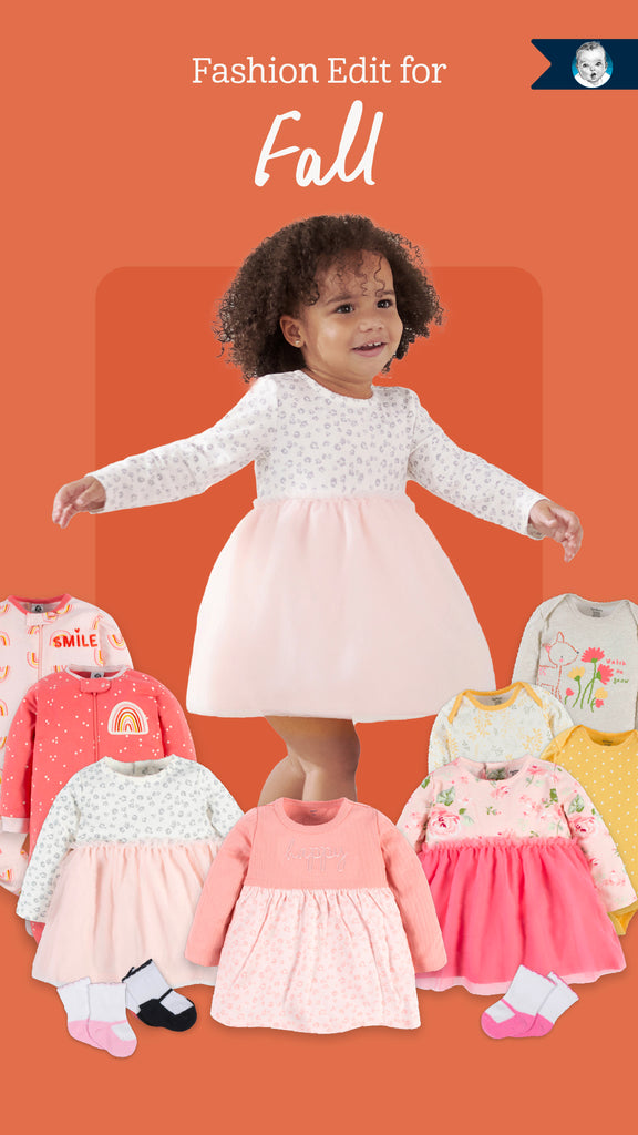 Baby Girl Fall Fashion Edit Featuring Baby Clothing such as Onesies, Outfits, Sleepwear and Accessories