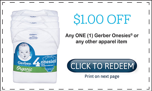 In Store Coupons Gerber Childrenswear