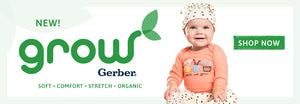 New Grow by Gerber Collection. Soft Comfort Stretch Organic. Shop Now