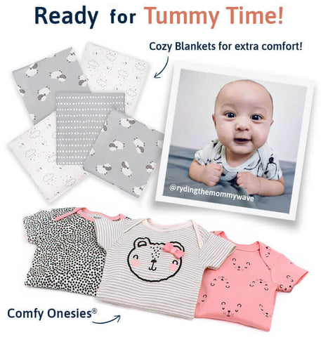 Onesies and Blankets for Tummy Tme
