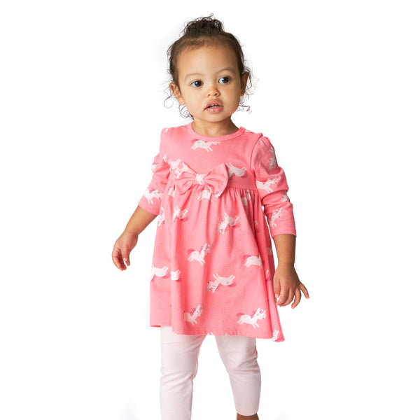 pink unicorn dress outfit for girls