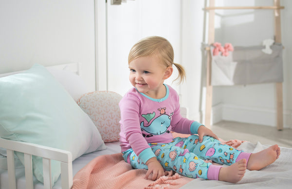 Nautical Whale Pajama Set for Toddlers