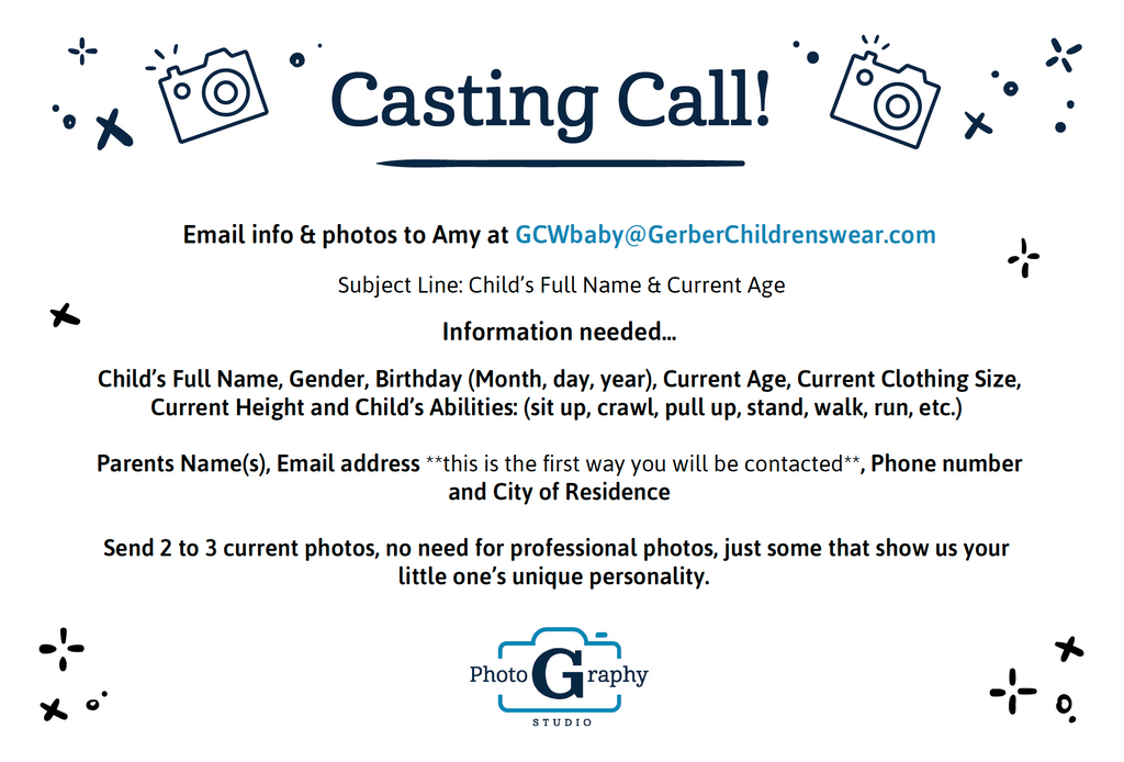 Gerber Childrenswear Casting Call
