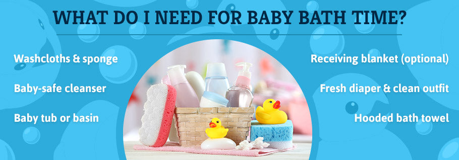What Do I Need for Baby Bath Time