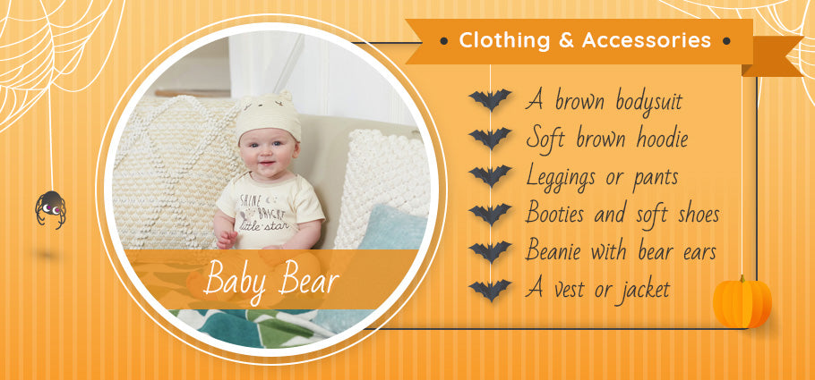baby bear clothing and accessories graphic