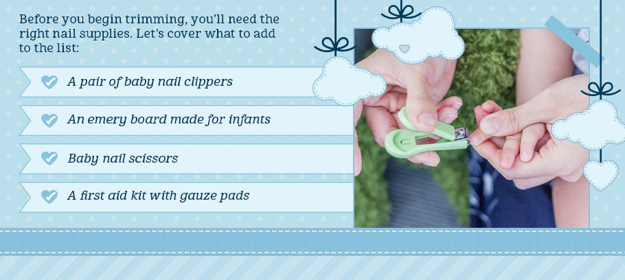 baby nails supplies list graphic