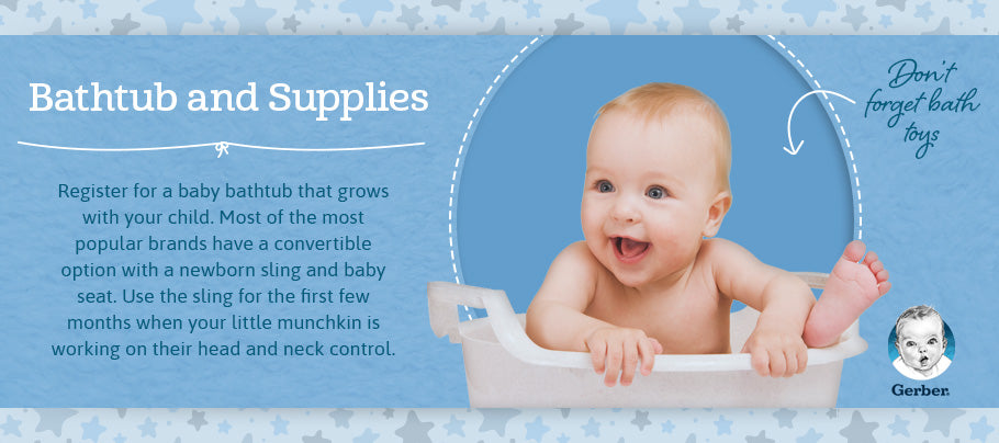 bathtub and supplies graphic
