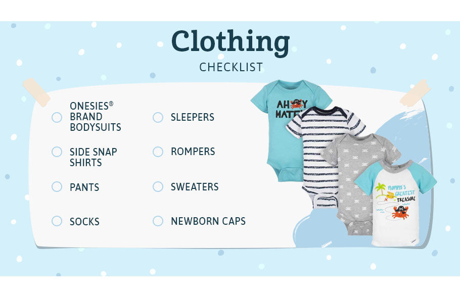 clothing checklist graphic