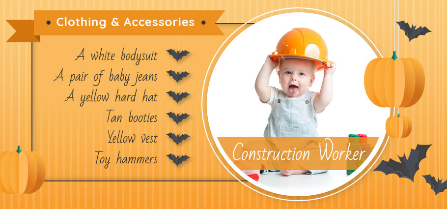 construction worker clothing and accessories graphic