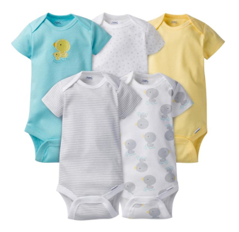 5-Pack Neutral Duck Onesies® Brand