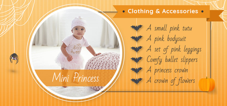 mini princess clothing and accessories graphic