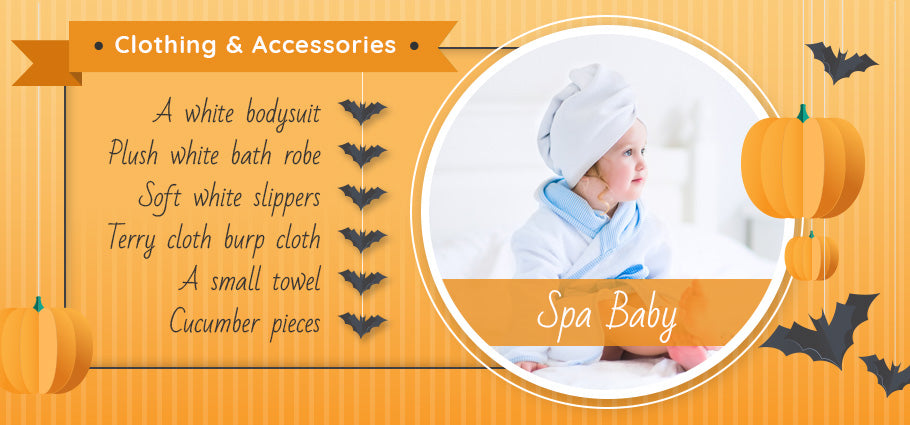 spa baby clothing and accessories graphic