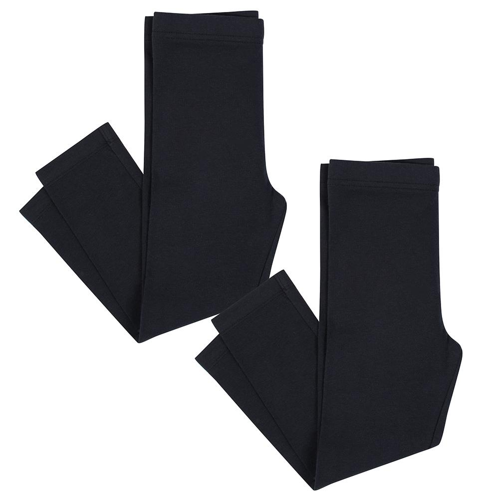 2-Pack Girls Black Leggings