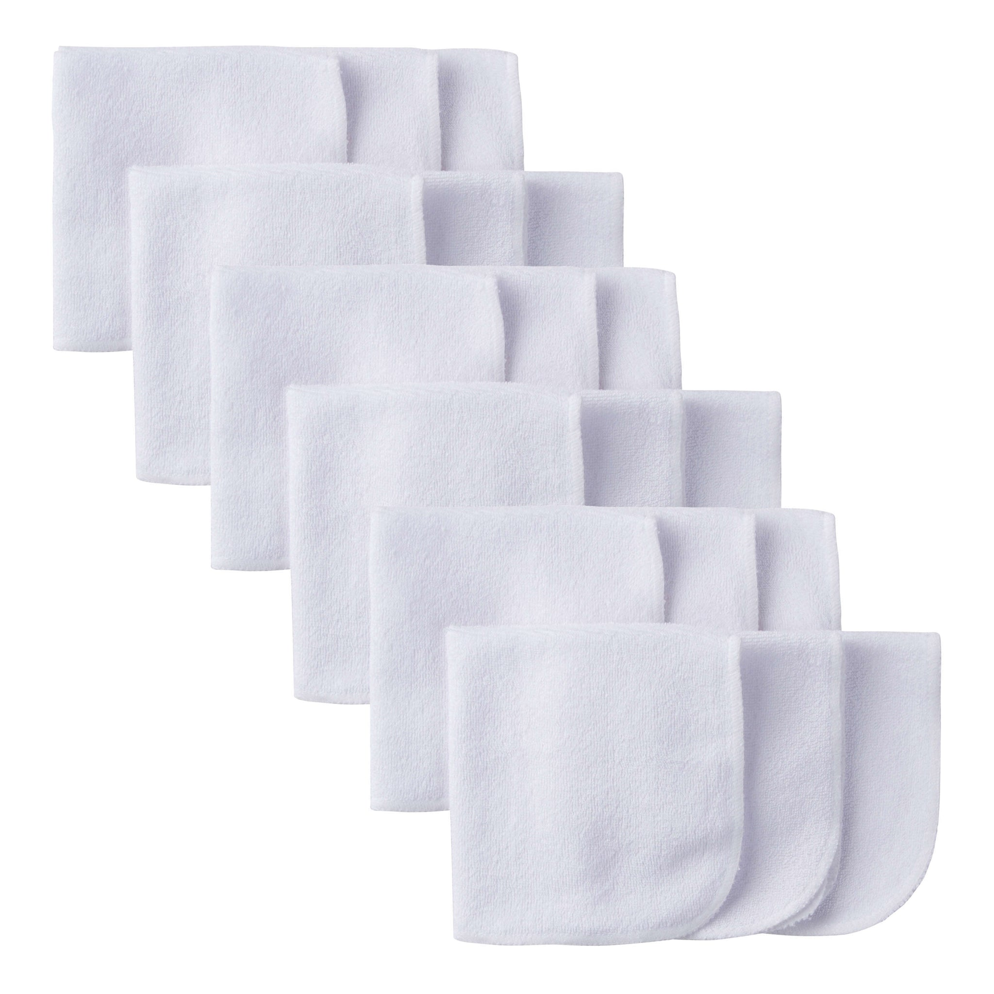 18-Pack White Terry Washcloths