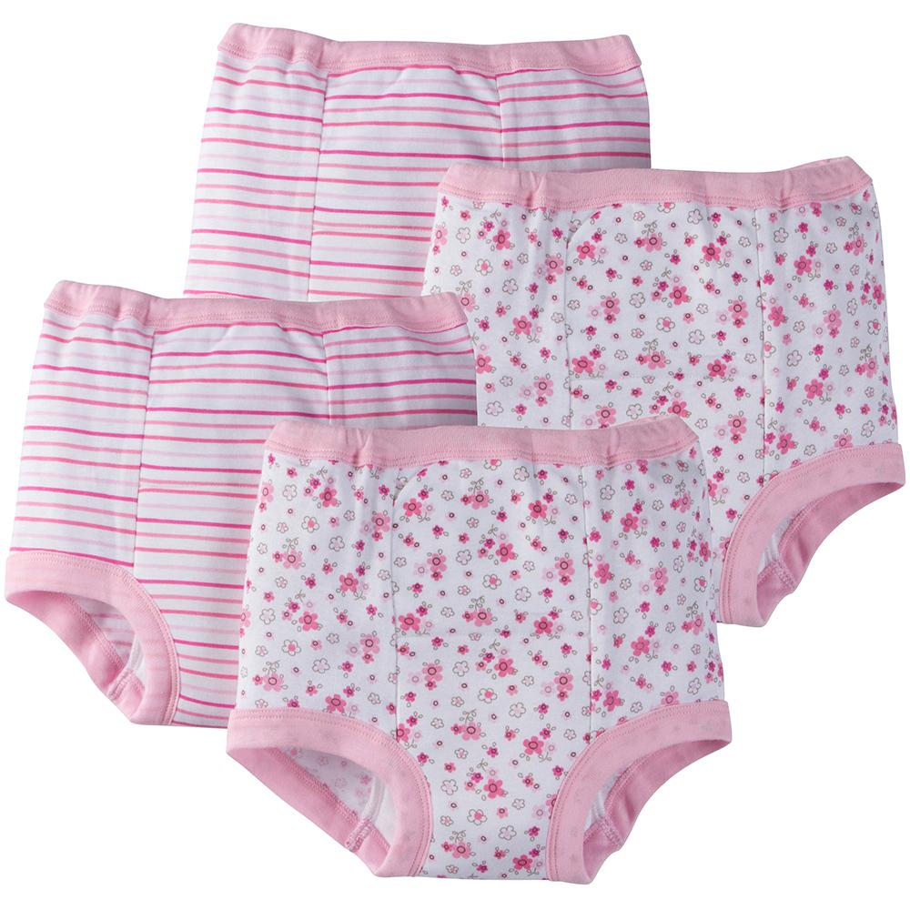 4-Pack Girls Floral Training Pants