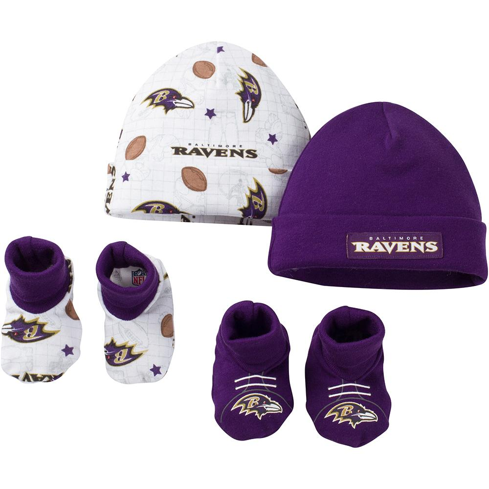 Baltimore Ravens Baby 4-Piece Cap and Bootie Set