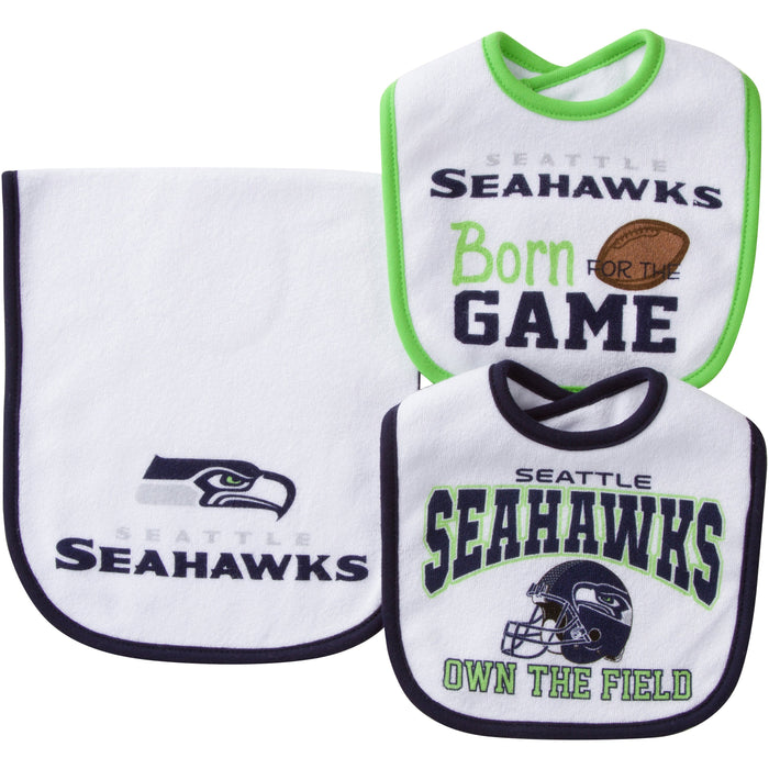 Baby bodysuit Born to play Seattle Seahawks football NFL One Piece jersey