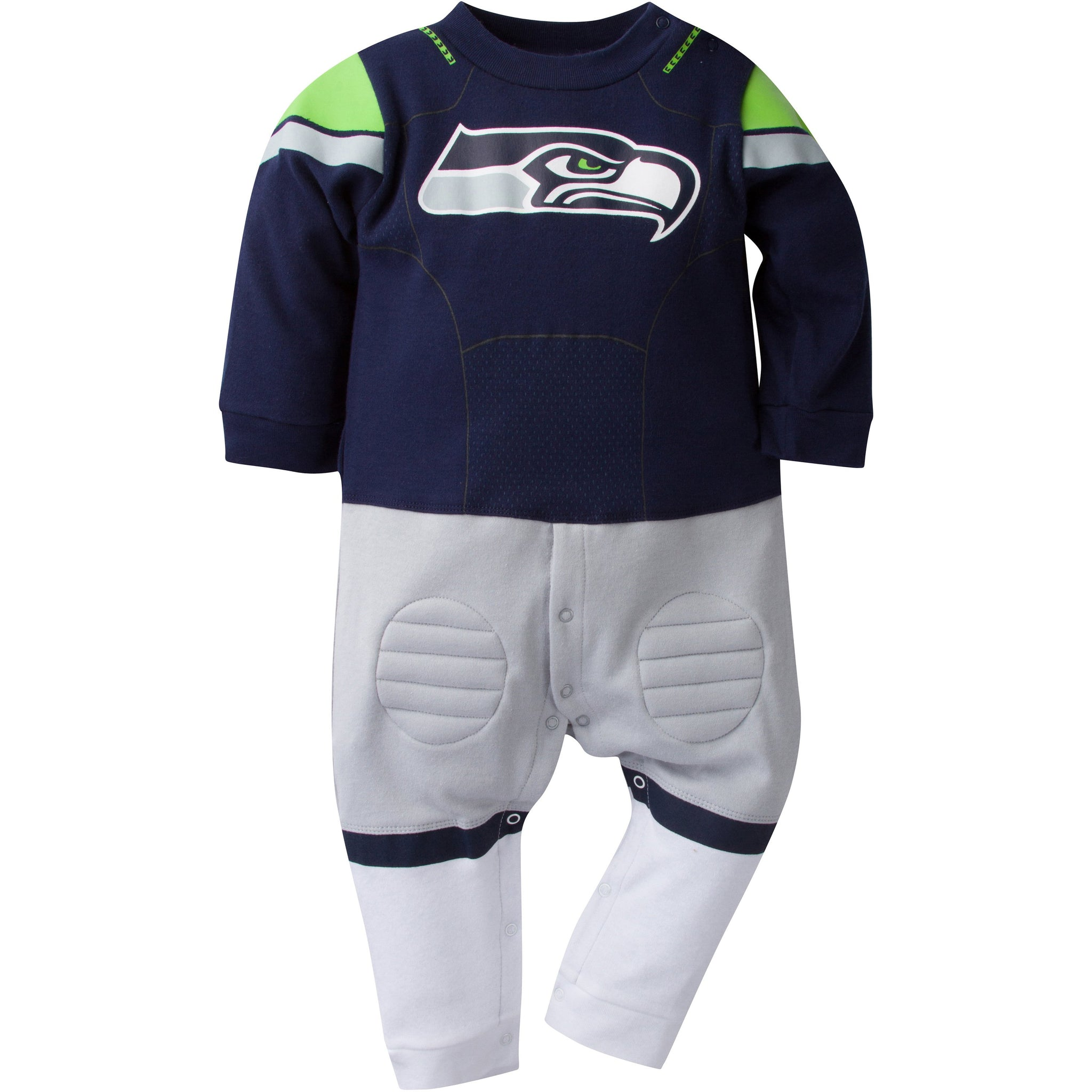 Seattle Seahawks Baby 1 Pack Footysuit-Gerber Childrenswear