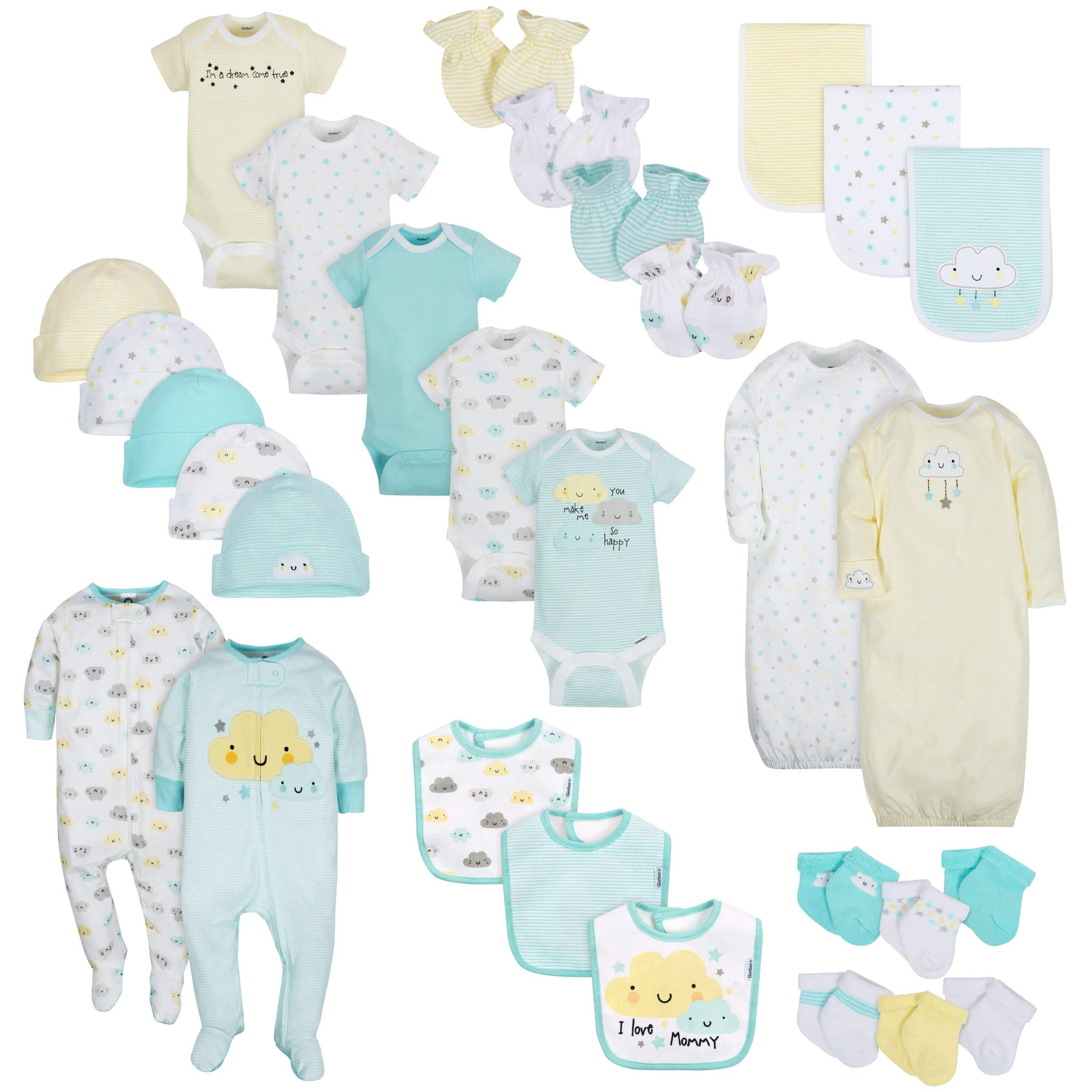 30-Piece Neutral Clouds Gift Set
