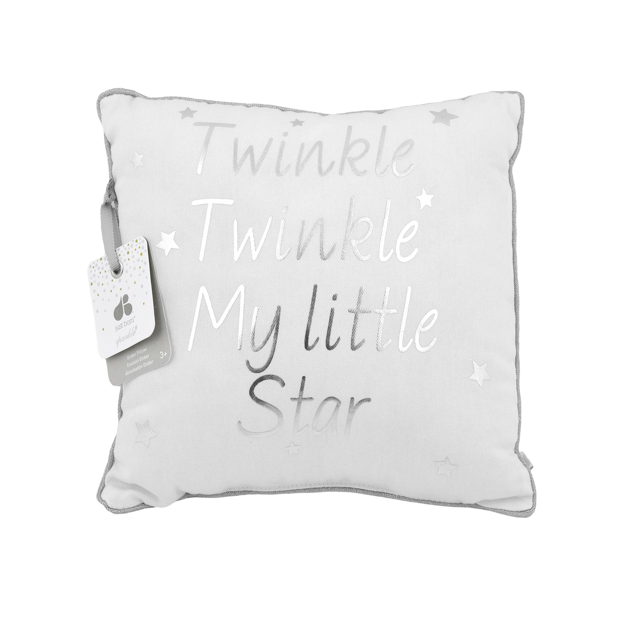 Just Born® Sparkle White Decorative Pillow-Gerber Childrenswear