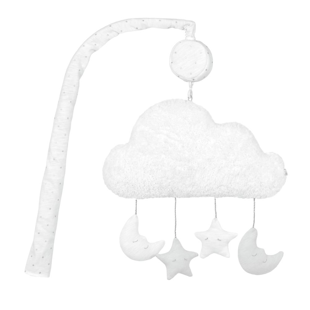Just Born® Sparkle Grey Musical Mobile-Gerber Childrenswear