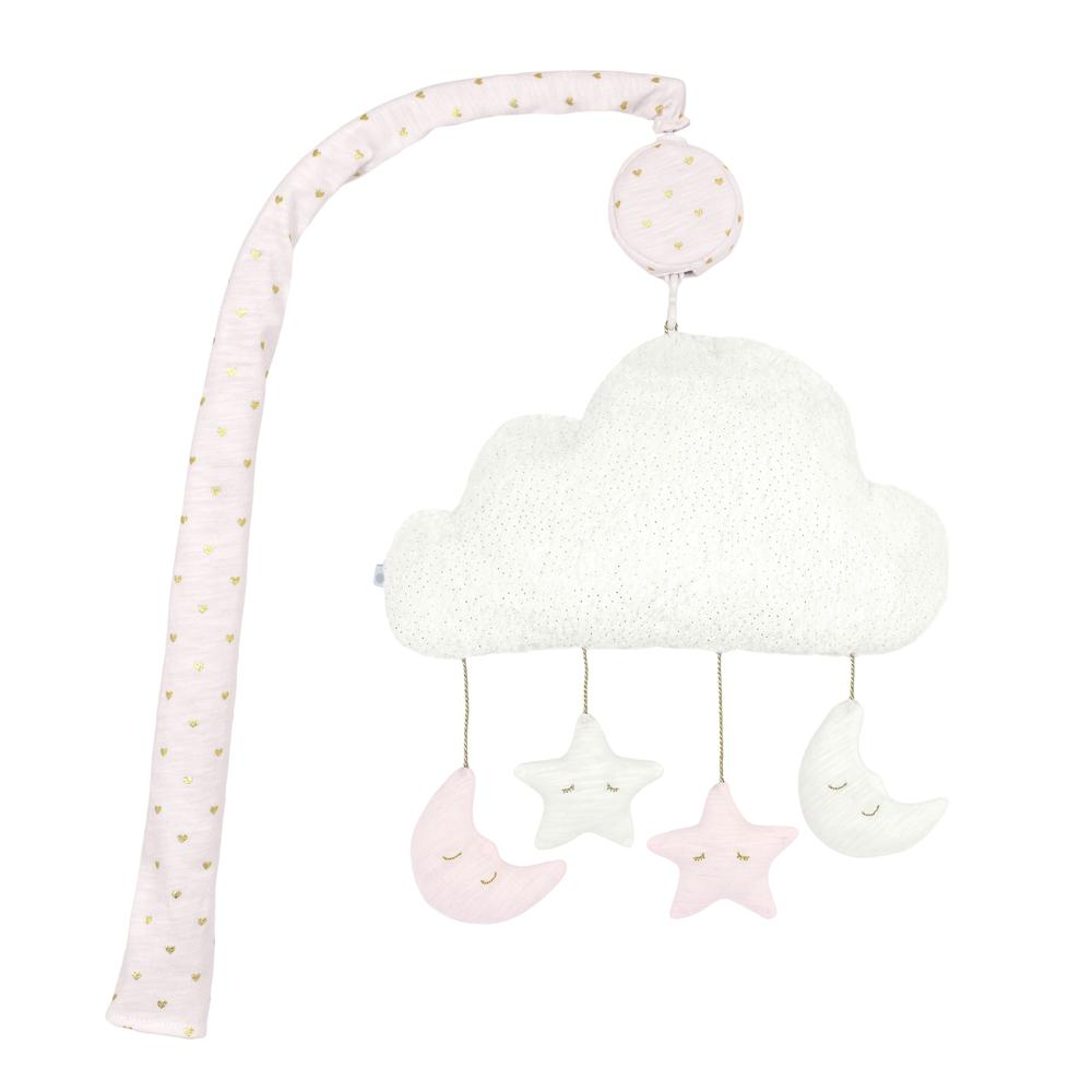 Just Born® Sparkle Pink Musical Mobile-Gerber Childrenswear