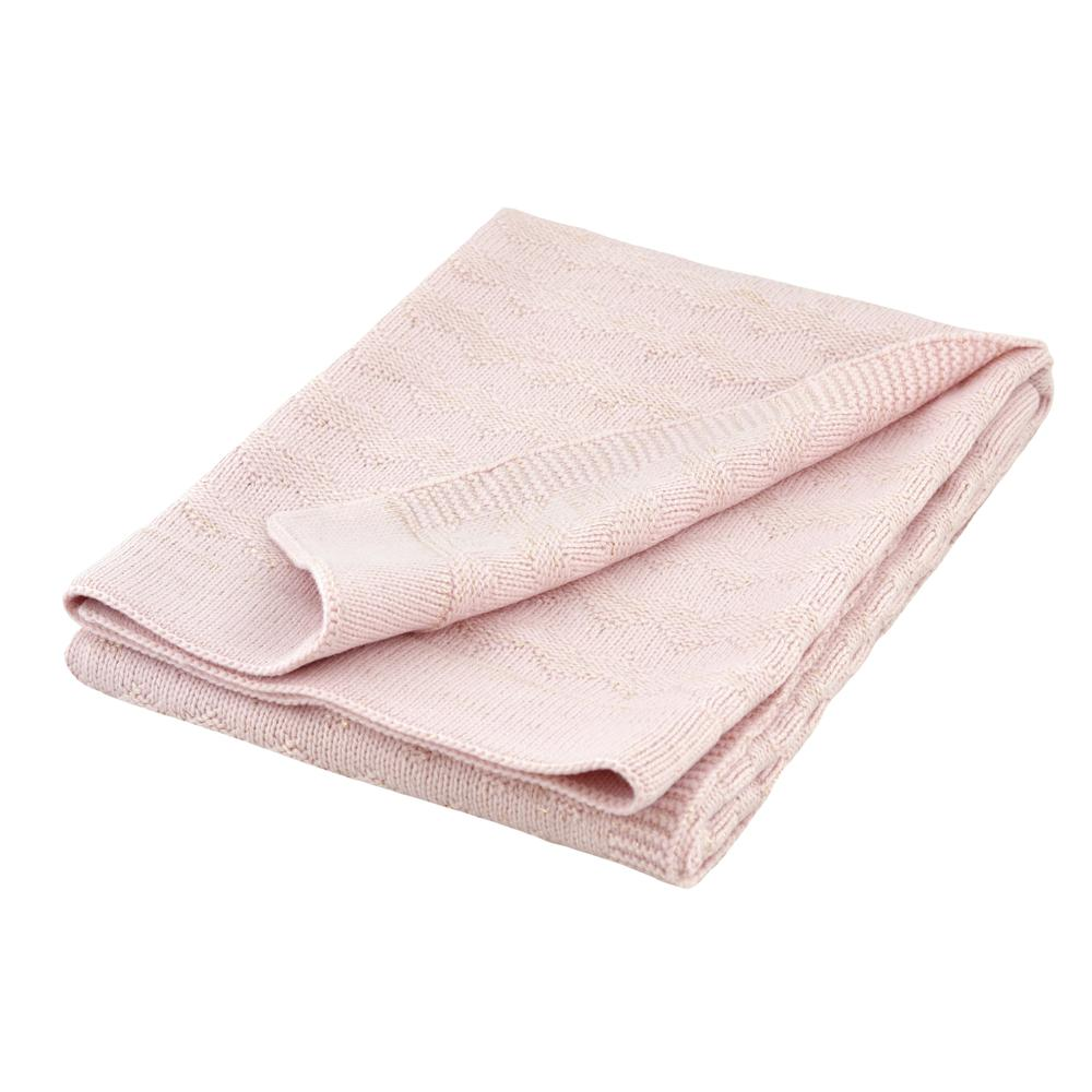 Just Born® Sparkle Pink Sweater Knit Blanket-Gerber Childrenswear