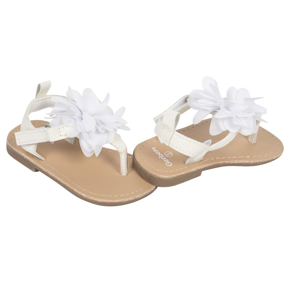 05ef649fa Baby Girls' Hard-sole Sandal, Iridescent Glitter and Flower – Gerber  Childrenswear